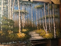 Large aspen trees canvas   Lakewood, 90715