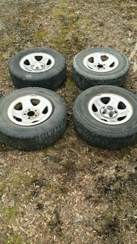 four gray 5-spoke auto wheels with tires Point of Rocks, 21777
