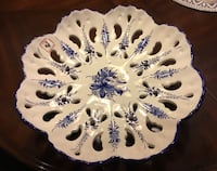 white and blue floral ceramic plate Lake Grove, 11755