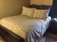 3 Piece Full Sized Wood Sleigh Bedroom Set Odenton, 21113