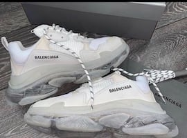 Balenciaga mesh and leather sneakers size 42 men's