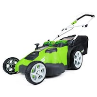 "New Greenworks 40V Lithium G Max Twin Force 20"" Dual Blade Lawn Mower with 2 Batteries and Charger.  Murfreesboro, 37130"
