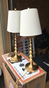 white and brown table lamp Happy Valley, 97015