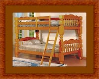 Wooden bunkbed frame 2 mattress free delivery Twin District Heights, 20747
