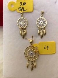 18k saudi gold dreamcatcher set 48 km