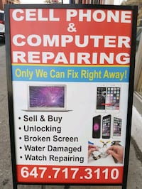 Cell phone and computer repair  Toronto, M6H 1M7