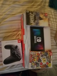 nintendo switch with games and controllers boxes Carson, 90745