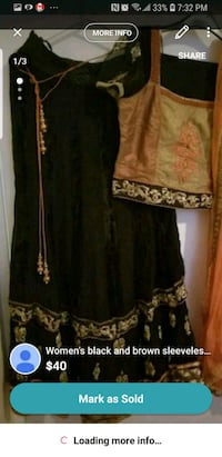 black and brown floral long-sleeved dress Scarborough, M1L 3E8