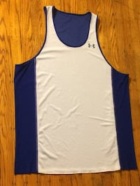 white and blue  and white and Red 2XL REVERSIBLE !! Under Armour tank top Philadelphia, 19138