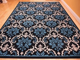 New Blue Black area rug 5x8 size Modern rugs