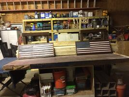 American Flag—-Distressed Wood—-Table or Wall Mount —-