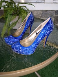 Size 9 Blue High Heels Lancaster, 17602