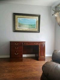 brown wooden TV stand with flat screen television Kissimmee, 34744