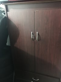 Brown wooden armoire, computer table and chair Brampton, L6S
