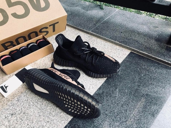 12adfba2b Used pair of black Adidas Yeezy Boost 350 V2 on box for sale in New York