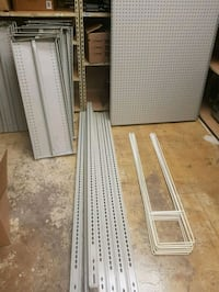 Metal shelving sections