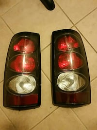 red and chrome car tail lights