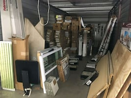 Storage full of new rehabbing materials