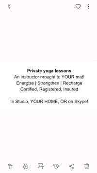 Private yoga instruction Hagerstown