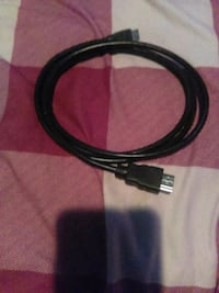 black HDMI cable
