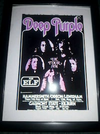 DEEP PURPLE/ELF CONCERT POSTER PICTURE Redford Charter Township