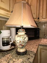 two brown-and-white table lamps Fairfax, 22033