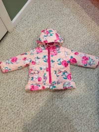 White and pink floral zip-up hooded jacket Bartlett, 60103