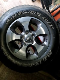 5 Stock Tires and Rims for Jeep Wrangler Norfolk