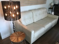 Beige Leather 3 seater Sofa  Chicago, 60601
