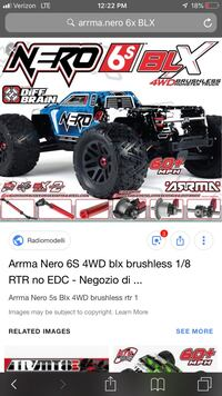Arrma Nero RC Car, excellent condition  Des Moines, 50310