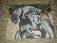 Painting on canvas of happy old black lab Jensen Beach, 34957