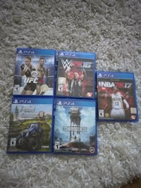 PS4 Games $20 for 5 or $5 ea Toronto, M6J