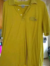 yellow and green Lacoste polo shirt  Irvington, 07111