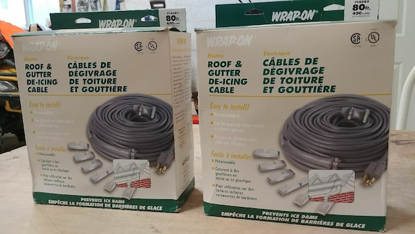 Two Wrap On Roof Gutter De Icing Cable
