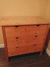 3 drawer wood dresser Airdrie, T4B