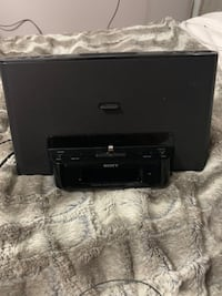 Sony Speaker with iPhone adapter