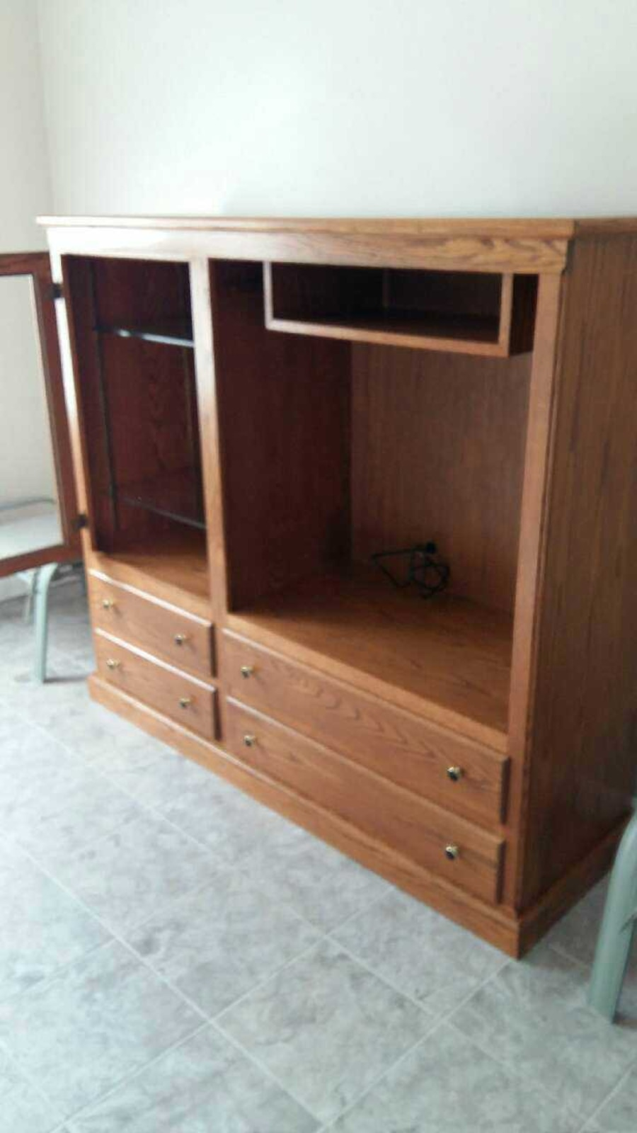 brown wooden hutch with cabinet - Ontario