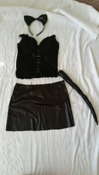 Halloween cat outfit, skirt, tail, top, cat ears West Sacramento, 95605