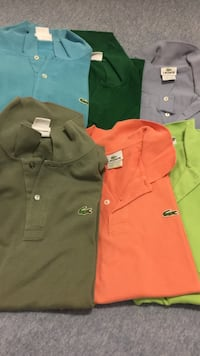 Hubby's Polo shirts sizes 4-7 Lacoste and Tommy