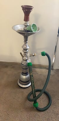 White and green hookah with hose Murfreesboro, 37130
