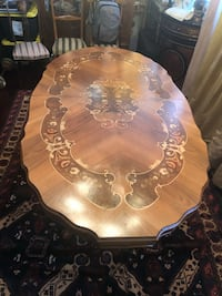 Italian inlaid dining table Toronto, M2R 3N1