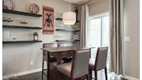 Urban Barn Solid Wood Cantina Table & four Chairs Airdrie, T4B