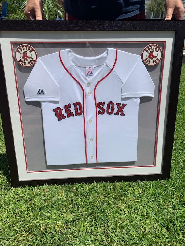 huge discount e1626 0d33e Framed, triple matted, Boston Red Sox jersey from Pottery Barn Kids.