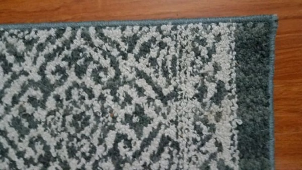 Small Blue and White Patterned Rug (30in x 46in) 046aff11-8efc-406f-a767-0465c3b7f9b2