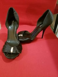 Black formal stiletto heels