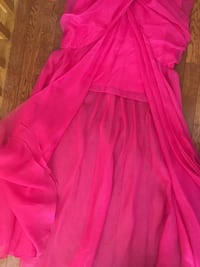 Bridesmaid Pink open front dress Mississauga