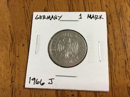 1966 Germany 1 Mark Coin