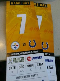 Steelers tickets colts lowers