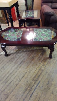 Beautiful leaded stained glass coffee table