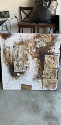 brown and gray abstract painting 2171 mi